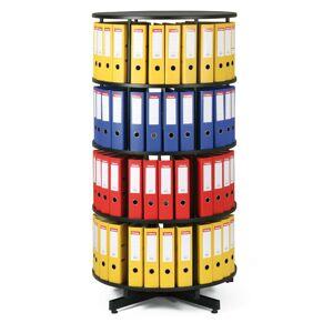 KVPR Archivační otočná skříň čtyřpatrová, karusel, barva černá