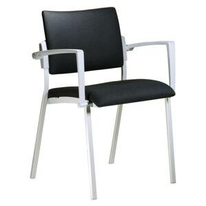 ALBA židle SQUARE šedý plast,kostra chrom nebo hliník