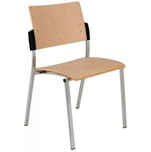 ALBA židle SQUARE dřevo, kostra chrom nebo hliník