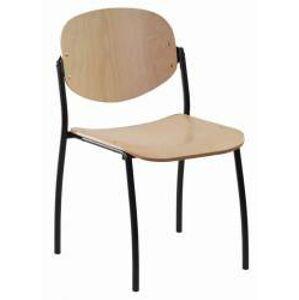 ALBA židle WENDY dřevěná, kostra černá