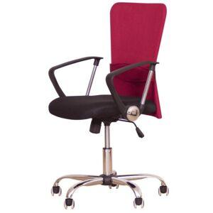 TEMPO KONDELA Kancelářská židle AEX, červená