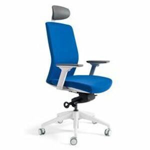 OFFICE PRO Kancelářská židle J2 White s podhlavníkem