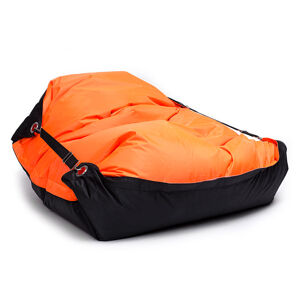 OMNIPULS Sedací pytel Omni Bag Duo s popruhy Fluorescent Orange-Black 181x141