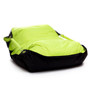 OMNIPULS Sedací pytel Omni Bag Duo s popruhy Fluorescent Yellow-Black 181x141