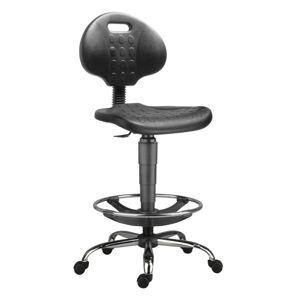 ANTARES Dílenská židle 1290 3150 PU NOR, chrom, extend, kolečka