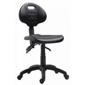 ANTARES Dílenská židle 1290 5009 PU ASYN - plast, kluzáky
