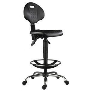 ANTARES Židle 1290 5150 PU ASYN, chrom, extend, kolečka
