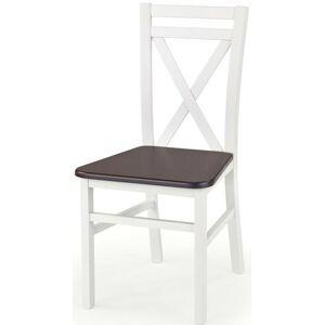 Halmar židle DARIUSZ 2 bílá/tm. ořech