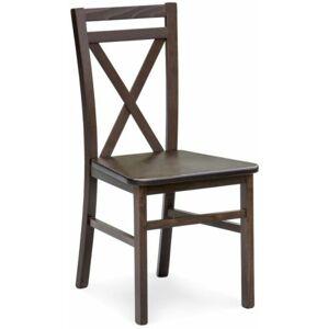 Halmar židle DARIUSZ 2 tm. ořech