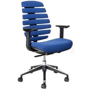 MERCURY židle FISH BONES černý plast, modrá látka 26-67