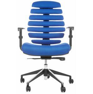 MERCURY židle FISH BONES černý plast,modrá látka TW10