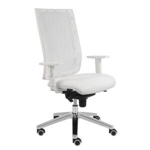 ALBA židle KENT SÍŤ, TB-SYNCHRO bílá konstrukce