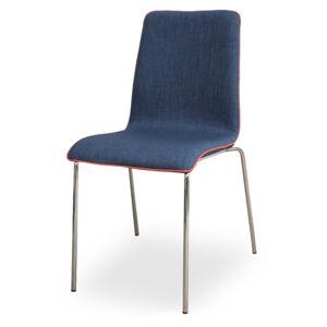MI-KO židle MIRKA chrom - celočalouněná
