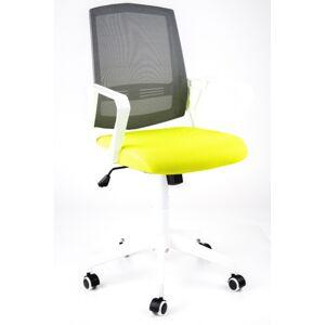 MERCURY židle SUN, bílé područky, šedý opěrák, zelený sedák